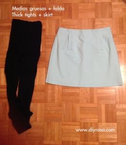 4 medias falda, consejos para el frio