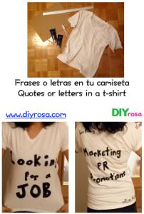 Frases o letras en una camiseta