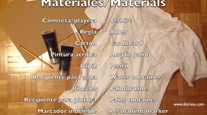 Materiales para camiseta