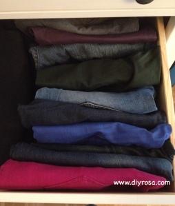 organiza tus pantalones