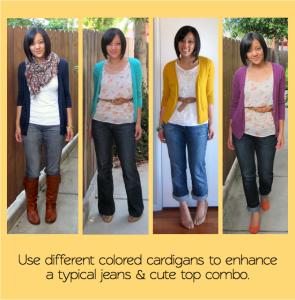 cardigans-jeans