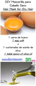 aceite de oliva + yema de huevo