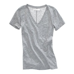 blusa de algodon cuello V