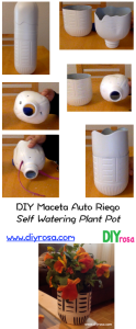 DIY self watering plant pot