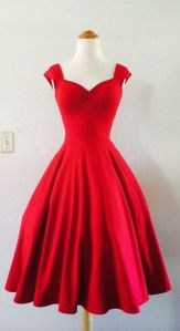 Escote d corazon vestido 50s