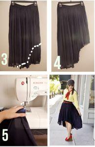 falda cola de pescado tutorial