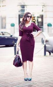 vestido ceñido vintage
