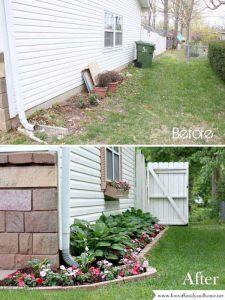 jardín antes y despues
