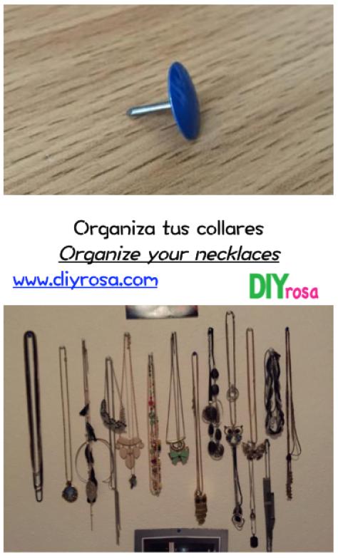 Organiza tus collares con tachuelas