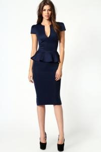 vestido con pliegues cintura