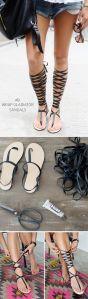DIY sandalias gladiador