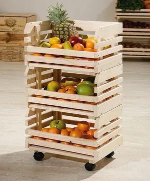 Diy frutero con guacales cajas de fruta diyrosa - Ideas para reciclar unos palets ...