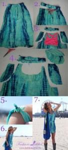 De falda a vestido