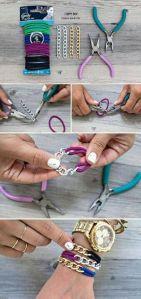 DIY pulseras metal