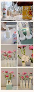 de botellas a floreros
