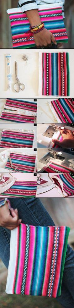 DIY Una Bolsa de Mano muy Mexicana