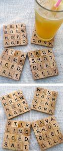 Portavasos de Scrabble