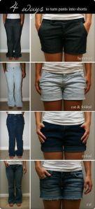 Transforma tus Pantalones Viejos a Shorts