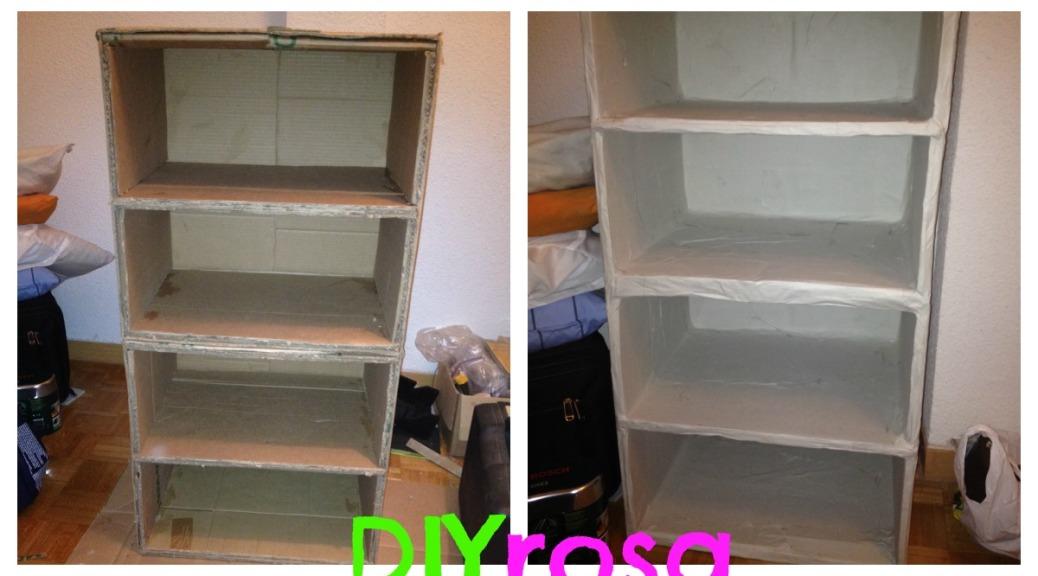 Diy mueble de cart n diyrosa for Reciclar muebles de melamina