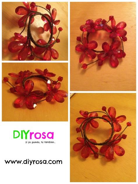decoración de flores de cristal