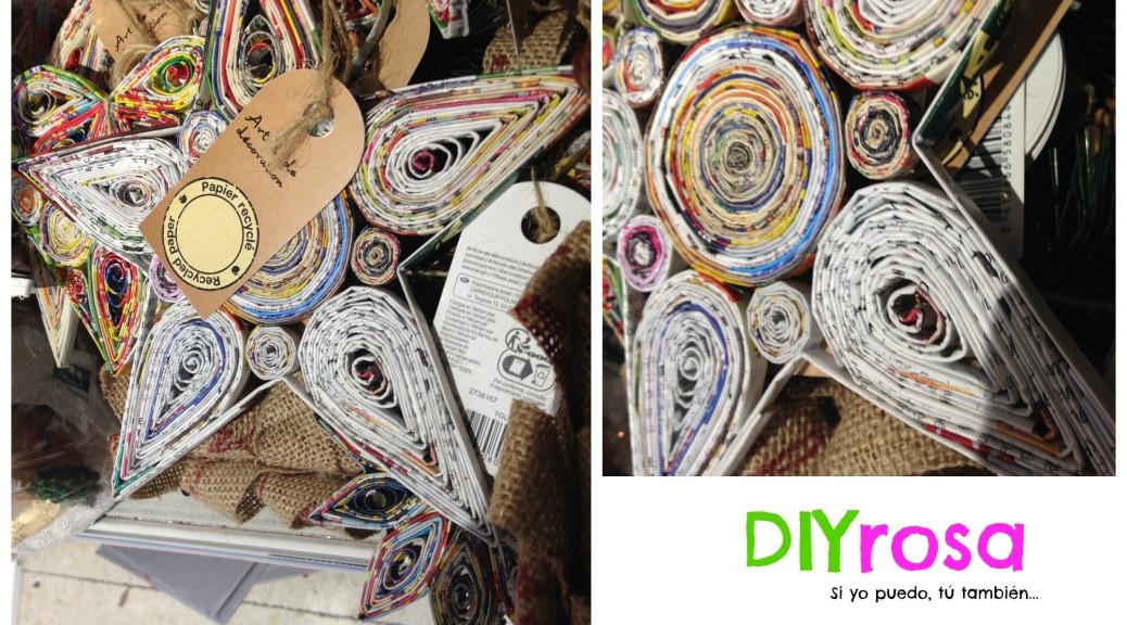 Decoraciones para el arbolito con papel de revista diyrosa - Decoraciones de papel ...