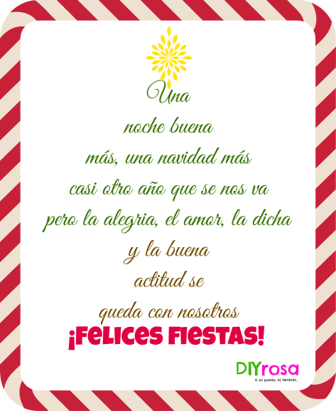 Felices fiestas DIYrosa quote