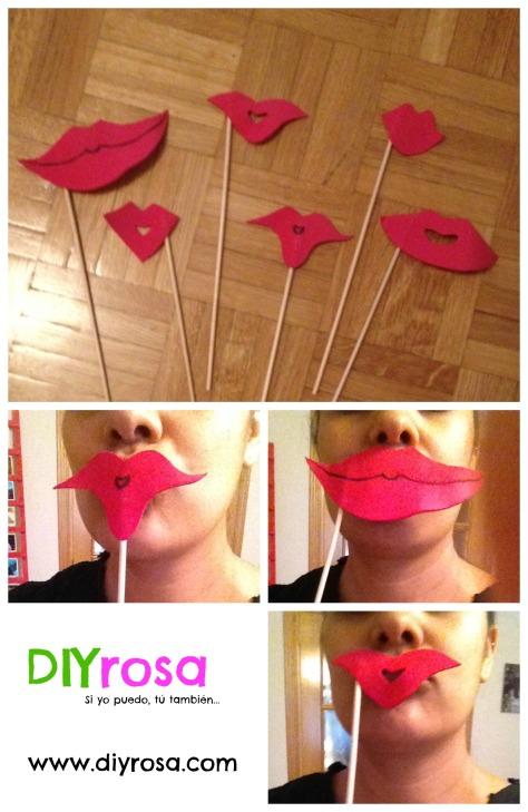 labios rojos hechos de fomy