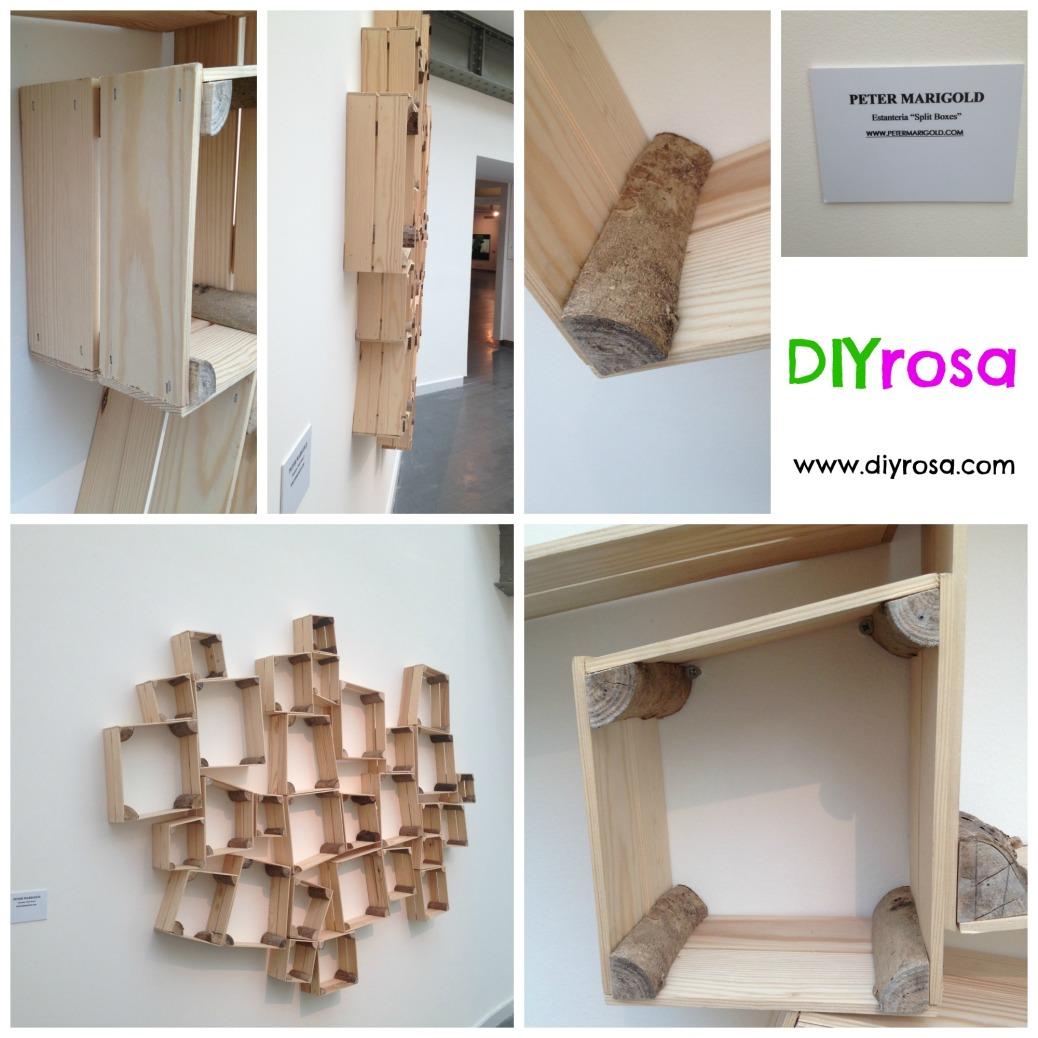 estantería de madera para colgar en pared