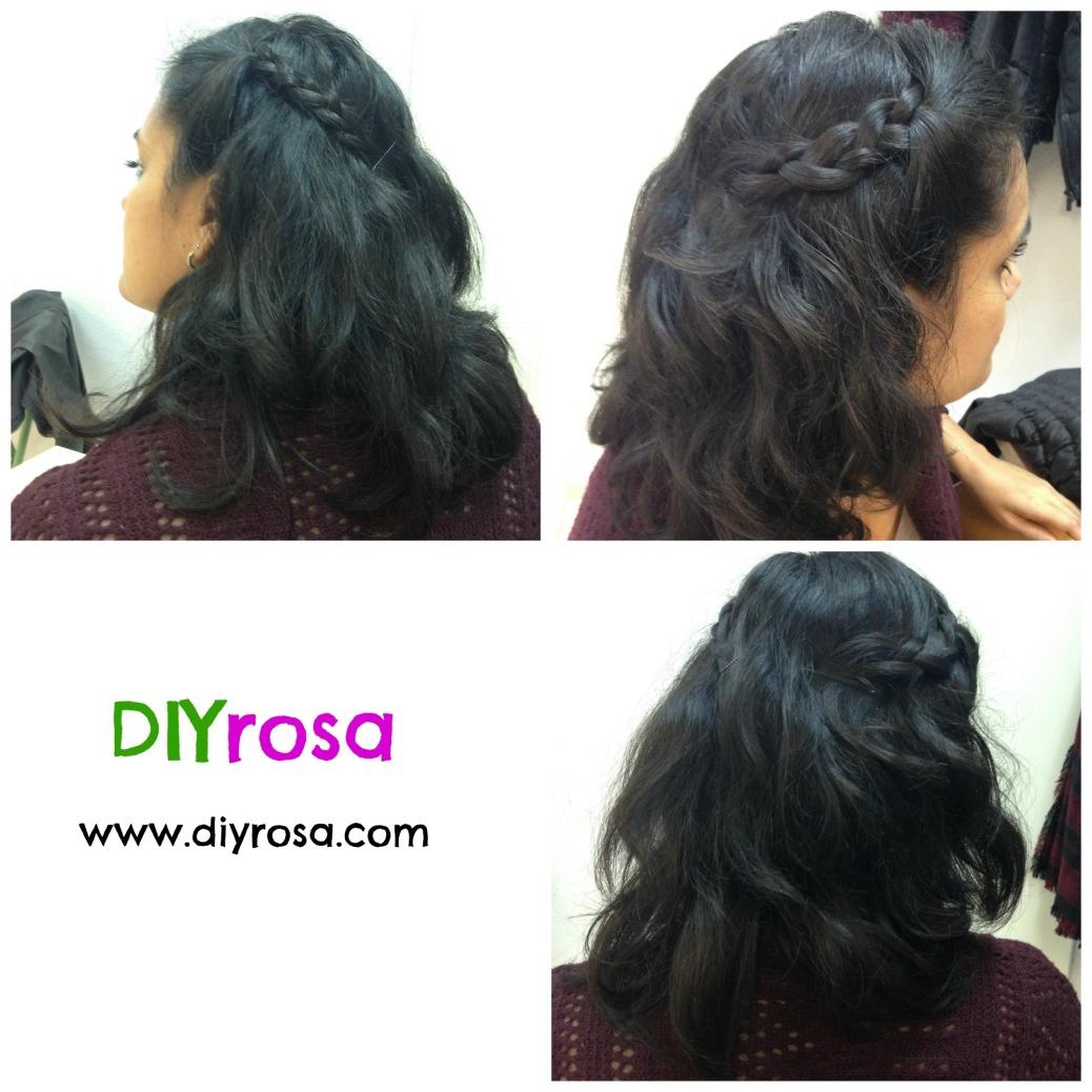 peinado trenzas laterales