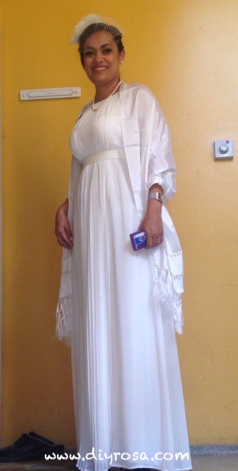 vestido y chal