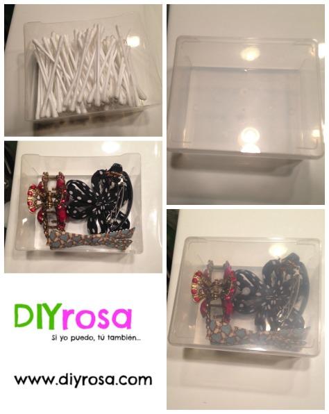 De caja de cotones a organizador de accesorios