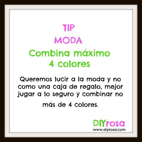 combina máximo 4 colores